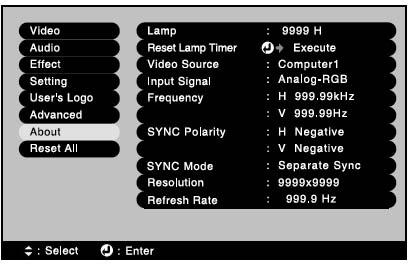 Epson_EMP811P_reset_lamp_timer_menu_Epson_ELPLP15_lamp